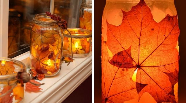Botes de cristal decorados con velas