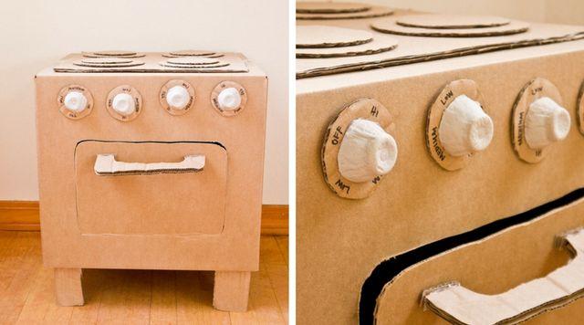 Cartón Reciclar Jugar Niñ Para Una ¡ideal Caja s Cocina De En u1TK35lFJc