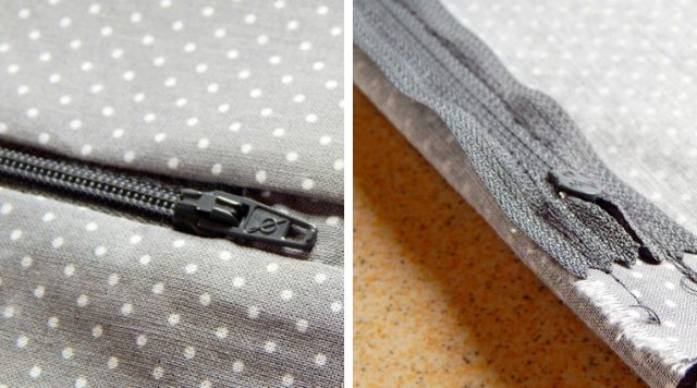Como coser una funda de cojín paso 2